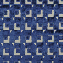 Pugin Weaves | Pugin - Indigo | Curtain fabrics | Designers Guild