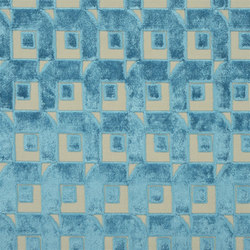 Pugin Weaves | Pugin - Turquoise | Vorhangstoffe | Designers Guild