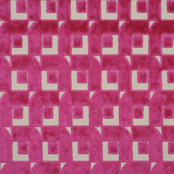 Pugin Weaves | Pugin - Fuchsia | Tessuti tende | Designers Guild
