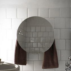 Mirror towel warmer round | Wandspiegel | mg12