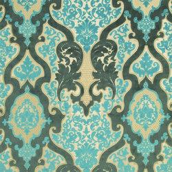 Racine Fabrics | Cabriole - Turquoise | Tissus pour rideaux | Designers Guild