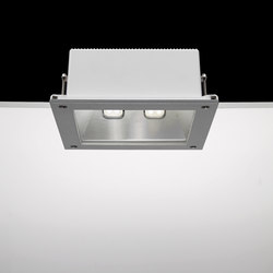 Ara / 250x250 mm - All Light - Transparent Glass | Spotlights | Ares