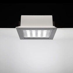 Ara Power LED / 250x250 mm - All Light - Sandlasted Glass | Strahler | Ares