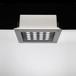 Ara Power LED / 250x250 mm - All Light - Transparent Glass - Medium Beam 40° | Spotlights | Ares