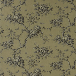 Signature Ashdown Manor Fabrics | Ashfield Floral - Leaf Fall | Curtain fabrics | Designers Guild