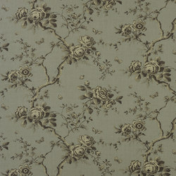 Signature Ashdown Manor Fabrics | Ashfield Floral - Tarnished Steel | Curtain fabrics | Designers Guild