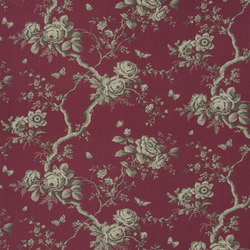 Signature Ashdown Manor Fabrics | Ashfield Floral - Winter Berry | Vorhangstoffe | Designers Guild