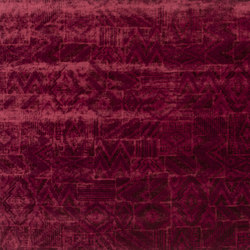 Signature Ashdown Manor Fabrics | Chastleton Velvet - Lacquer | Tejidos para cortinas | Designers Guild