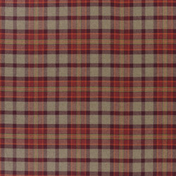 Signature Ashdown Manor Fabrics | Ryscott Plaid - Port | Tejidos para cortinas | Designers Guild