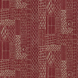 Astasia Fabrics | Khalana - Brick | Curtain fabrics | Designers Guild