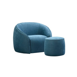 Baloo​ armchair and ottoman | Armchairs | Alivar