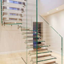 Mistral All Glass with Steel Risers | Staircase systems | Siller Treppen