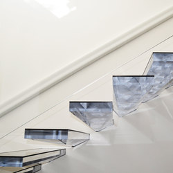Cantilevered stair in Acrylic | Stairs / Elevators | Siller Treppen