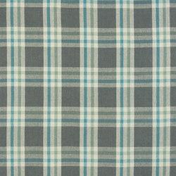 Brera Quadretto Fabrics | Brera Scozzese - Teal | Tessuti tende | Designers Guild