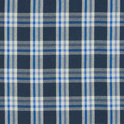 Brera Quadretto Fabrics | Brera Scozzese - Cobalt | Curtain fabrics | Designers Guild