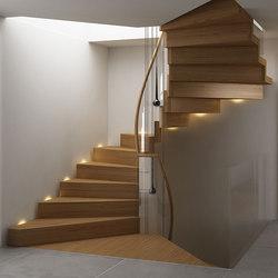 Scala per soppalco modern | Scale di legno vetro | Siller Treppen