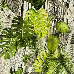 Belles Rives Fabrics | Soft Jardin Exo Chic - Caviar | Tissus pour rideaux | Designers Guild