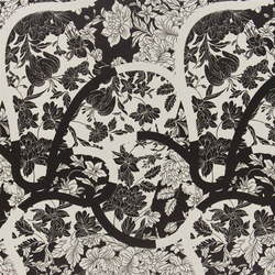 Belles Rives Fabrics | Japoneries - Caviar | Vorhangstoffe | Designers Guild
