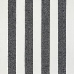 Brera Rigato Stripe Fabrics | Brera Largo - Noir | Curtain fabrics | Designers Guild