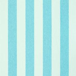 Brera Rigato Stripe Fabrics | Brera Largo - Turquoise | Tissus pour rideaux | Designers Guild