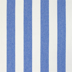 Brera Rigato Stripe Fabrics | Brera Largo - Cobalt | Curtain fabrics | Designers Guild