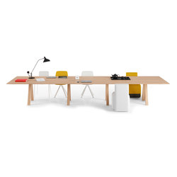 Trestle table | Canteen tables | viccarbe