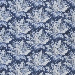 Indigo Bleu Fabrics | Perosita - Indigo | Tissus pour rideaux | Designers Guild