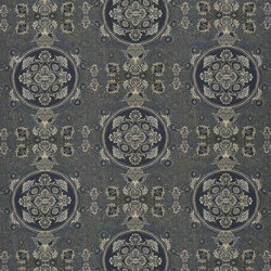 Indigo Bleu Fabrics | Albertine - Indigo | Vorhangstoffe | Designers Guild