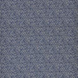 Indigo Bleu Fabrics | Manzu - Indigo | Curtain fabrics | Designers Guild