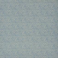 Indigo Bleu Fabrics | Manzu - Teal | Tissus pour rideaux | Designers Guild