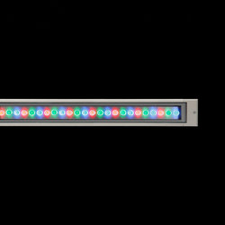 Cielo RGB Power LED / L 1245 mm - Sandblasted Glass | Outdoor recessed ceiling lights | Ares