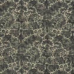 Signature Artiste de la Mer Fabrics | Antibes Batik - Charcoal | Tissus pour rideaux | Designers Guild