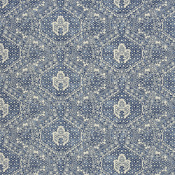 Signature Artiste de la Mer Fabrics | Avignon Batik - Porcelain | Tessuti tende | Designers Guild