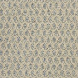 Signature Artiste de la Mer Fabrics | Boudin Paisley - Chambray | Tissus pour rideaux | Designers Guild
