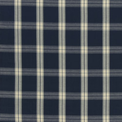 Signature Artiste de la Mer Fabrics | Granville Plaid - Navy | Tessuti tende | Designers Guild