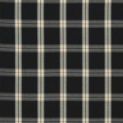 Signature Artiste de la Mer Fabrics | Granville Plaid - Black | Tissus pour rideaux | Designers Guild