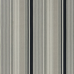 Signature Artiste de la Mer Fabrics | Jacques Ticking - Vintage Black | Curtain fabrics | Designers Guild