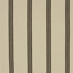 Signature Artiste de la Mer Fabrics | Leblanc Stripe - Sepia | Curtain fabrics | Designers Guild