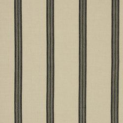 Signature Artiste de la Mer Fabrics | Leblanc Stripe - Noir | Tissus pour rideaux | Designers Guild