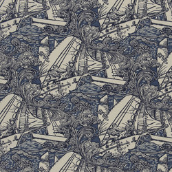 Signature Artiste de la Mer Fabrics | Main Sail - Ultramarine | Curtain fabrics | Designers Guild