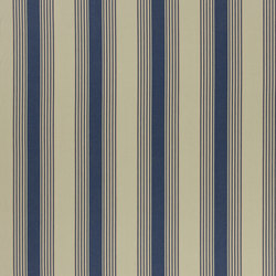 Signature Artiste de la Mer Fabrics | Silver Lake Stripe - Navy | Tissus pour rideaux | Designers Guild