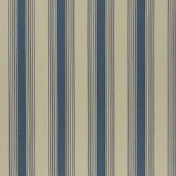 Signature Artiste de la Mer Fabrics | Silver Lake Stripe - Vintage Blue | Tissus pour rideaux | Designers Guild