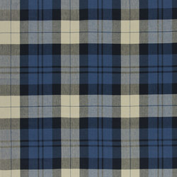 Signature Artiste de la Mer Fabrics | Summer Cottage Plaid - Indigo | Curtain fabrics | Designers Guild