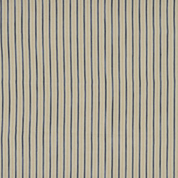 Signature Modern Lodge Fabrics | Calvados Ticking - Indigo | Tessuti tende | Designers Guild