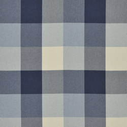 Signature Modern Lodge Fabrics | Great Camp Check - Indigo | Curtain fabrics | Designers Guild