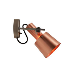 Chester Wall Light, Satin Copper, Black Braided Cable | Reading lights | Original BTC