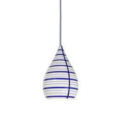Circle Line Drop Pendant, Blue/White | Éclairage général | Original BTC Limited