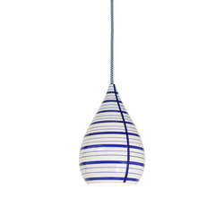 Circle Line Drop Pendant, Blue/White | Allgemeinbeleuchtung | Original BTC