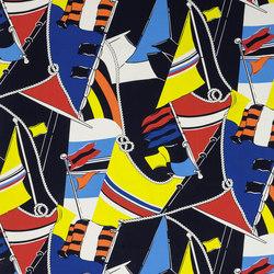 Signature Sur la Cote Fabrics | Schooner Novelty - Marina | Curtain fabrics | Designers Guild