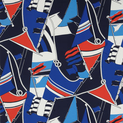 Signature Sur la Cote Fabrics | Schooner Novelty - Regatta | Curtain fabrics | Designers Guild